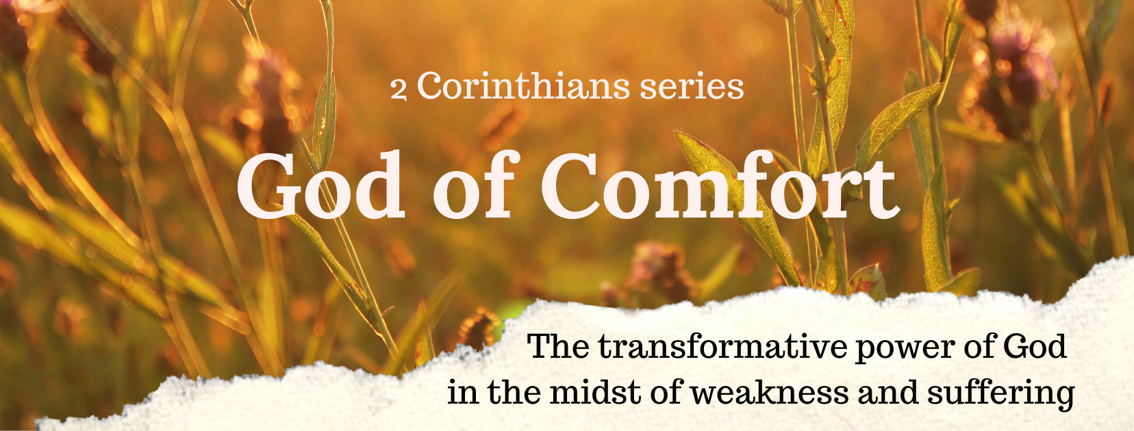 God of Comfort Series Facebook cover